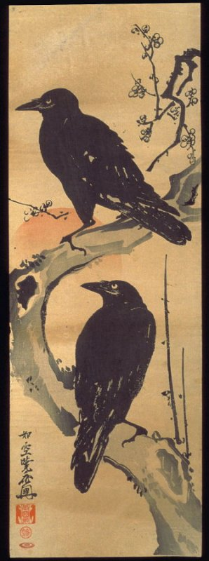 Crows on a Plum Branch