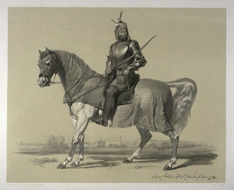 Rajah Lal Sing, thirteenth plate in the book, Recollections of India … Part I. British India and the Punjab (London: Thomas M'Lean, 1847)