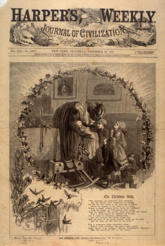 The Christmas Baby - Title page of Harper's Weekly 29 December 1877