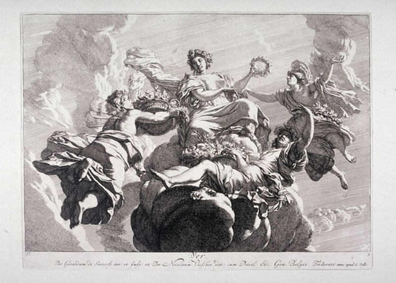 Spring, from a set of four allegories of the seasons