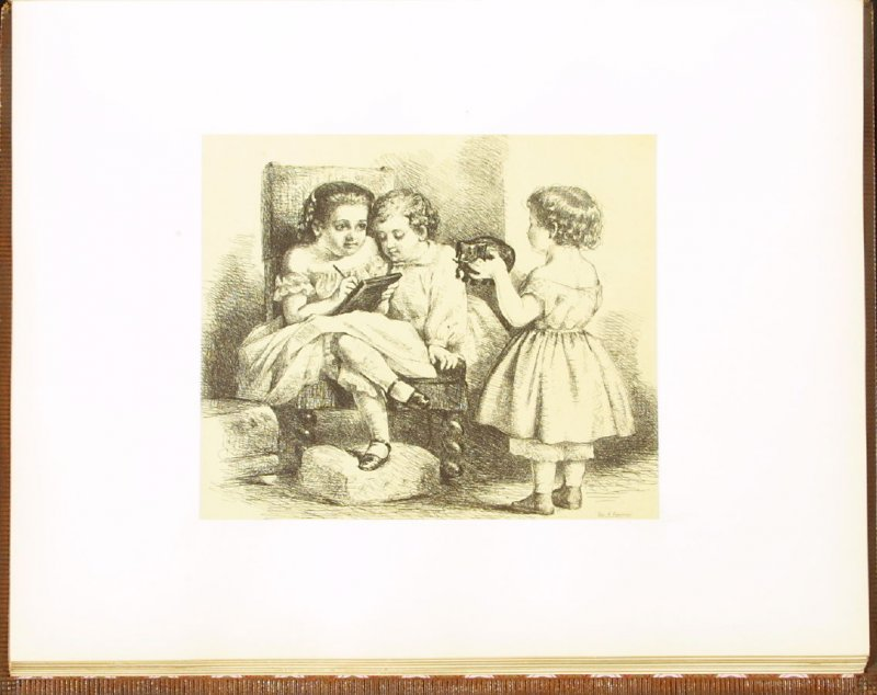 Childhood, accompanied by verses by J. W. Parsons, eighth plate in the book Autograph Etchings by American Artists (New York: W. A. Townsend & Company, 1859)