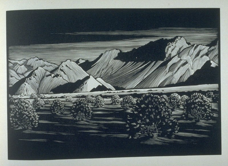Indio Mountains, plate II in the book, California Hills… (Los Angeles: Bruce McCallister, 1931)