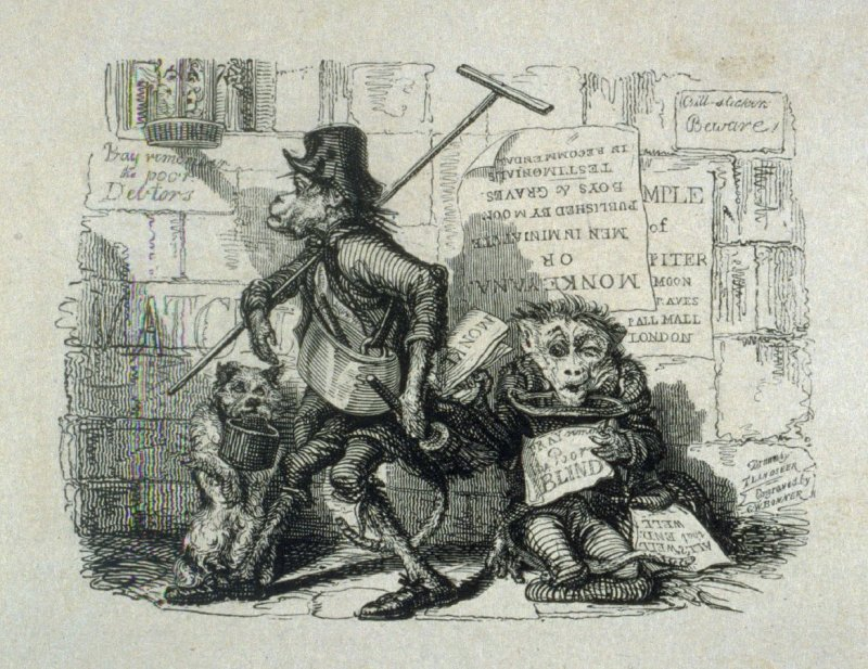 One of 25 Etchings - Monkeyana or Men in Miniature