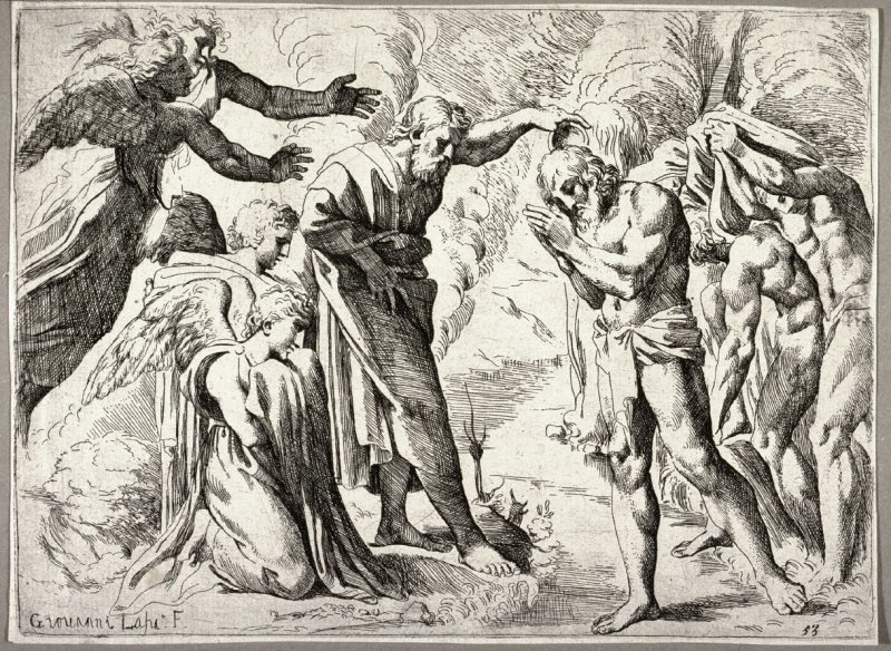 The Baptism of Christ, from the series of etchings Biblical Scenes, after the frescoes by Raphael in the Vatican Loggia