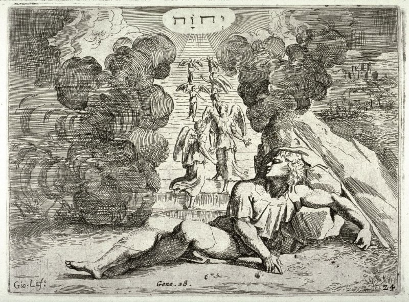 Jacob's Dream, from the series of etchings Biblical Scenes, after the frescoes by Raphael in the Vatican Loggia