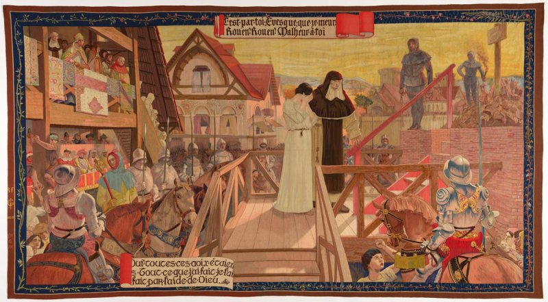The Execution of Joan of Arc (Le Supplice de Jeanne d'Arc), from The Story of Joan of Arc series