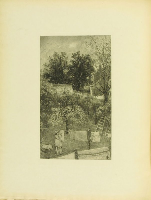 """The Maid was in the Garden,"" pg. 35, in the book Cecil Lawson: A Memoir by Edmund W. Gosse (London: The Fine Art Society, 1883)"