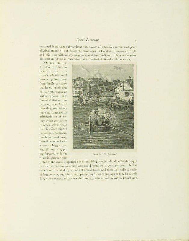 """""""Sketch for 'The Foundling',"""" pg. 9, in the book Cecil Lawson: A Memoir by Edmund W. Gosse (London: The Fine Art Society, 1883)"""