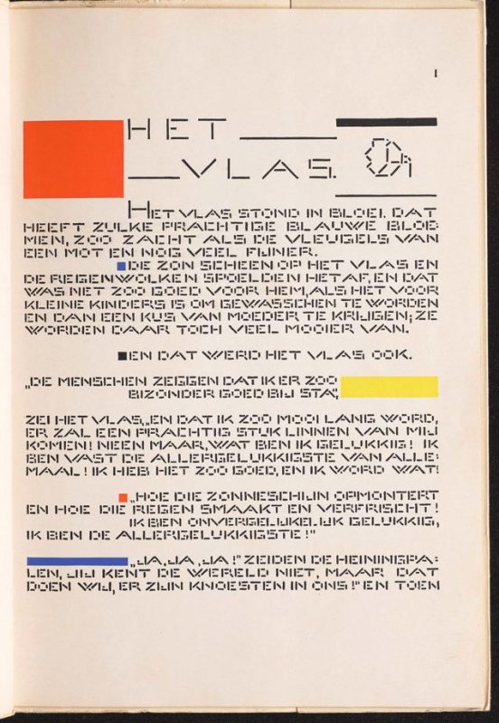 Untitled, pg. 1, in the book Het Vlas (The Flax) by H. C. Andersen (Amsterdam: De Spieghel, 1941)