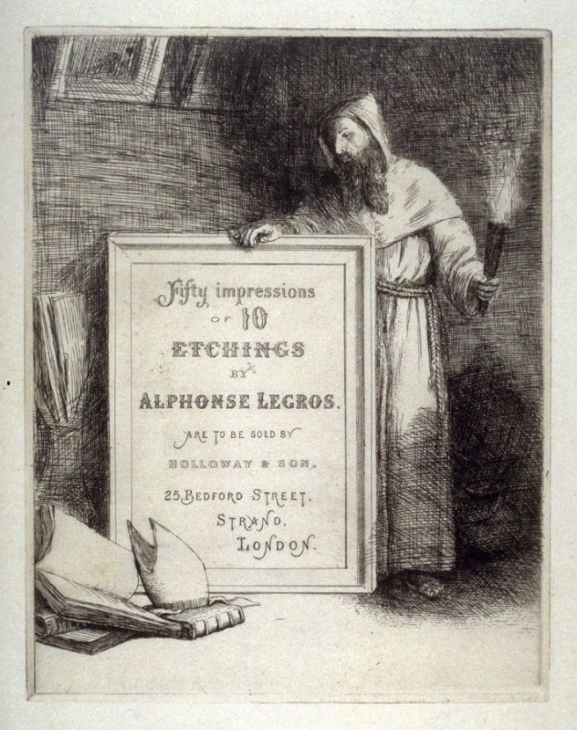 Title page from 50 Impressions of 10 Etchings by Alphonse Legros