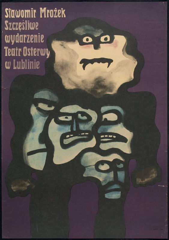 The Happy Event, poster for the play of Slawomir Mrozek