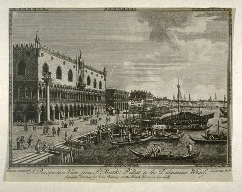 A Perspective View from St. Mark's Pillar to the Dalmatian Wharf