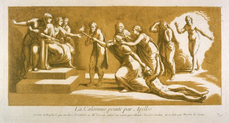 The Calumny of Appellas, from the Recueil Crozat