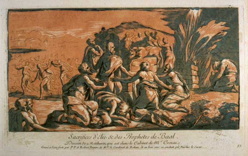 Sacrifices of Elijah and the Prophets of Baal, from the Recueil Crozat