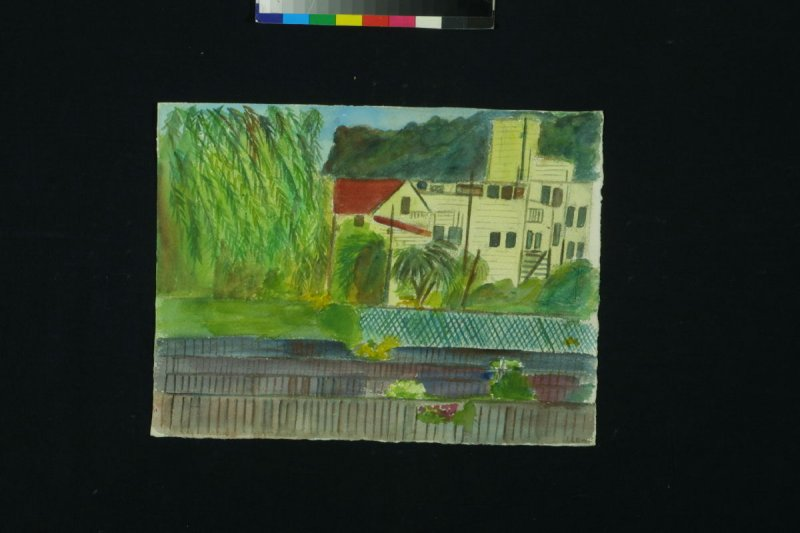 Untitled (Pepper Trees and Houses)