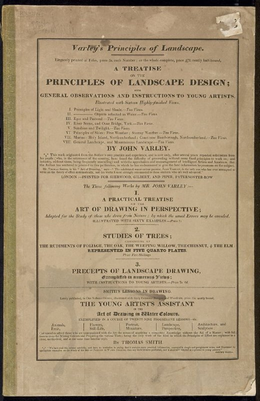 A Treatise on the Principles of Landscape Design by John Varley (London: Sherwood, Gilbert, and Piper, [ca. 1821])
