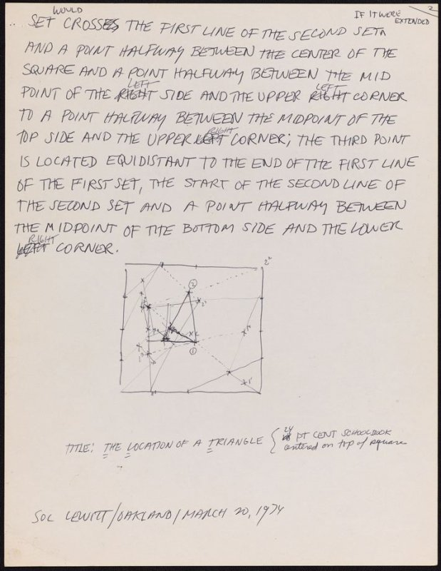 Part 2 of a two part drawing for The Location of a Triangle from the set, Location of 6 Geometric Figures