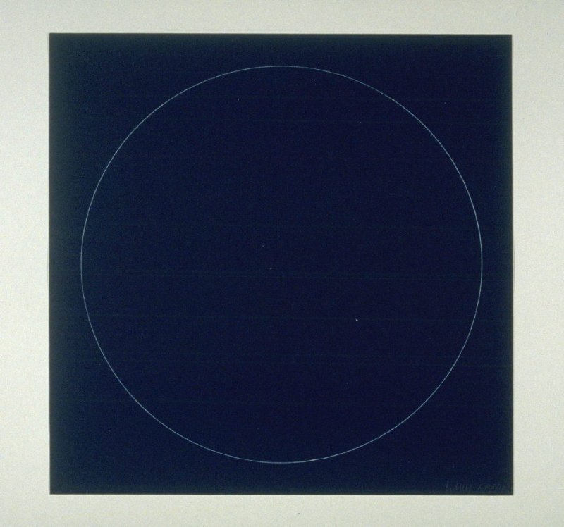 Untitled, pl. 1 from the portfolio Six geometric figures (circle, square, triangle, rectangle, trapezoid and parallelogram) (New York: Parasol Press Ltd., 1977)