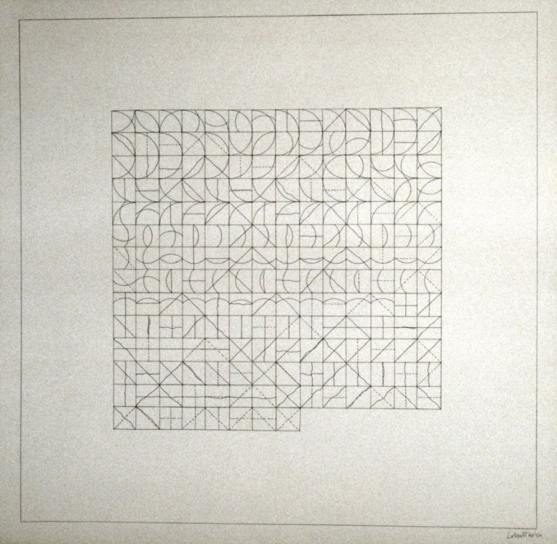 Untitled, pl. 1, from the portfolio, ALL COMBINATIONS OF ARCS FROM CORNERS & SIDES; STRAIGHT, NOT-STRAIGHT & BROKEN LINES (New York: Parasol Press Ltd., 1975)