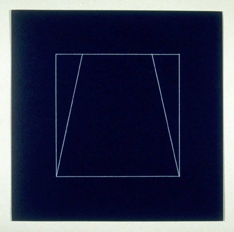 """Untitled, pl. 9, from the portfolio, """"All double combinations (superimposed) of six geometric figures (circle square, triangle, rectangle, trapezoid and parallelogram)"""""""