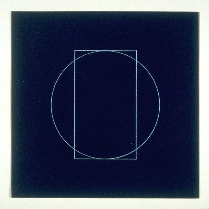 """Untitled, pl. 12, from the portfolio, """"All double combinations (superimposed) of six geometric figures (circle square, triangle, rectangle, trapezoid and parallelogram)"""""""""""