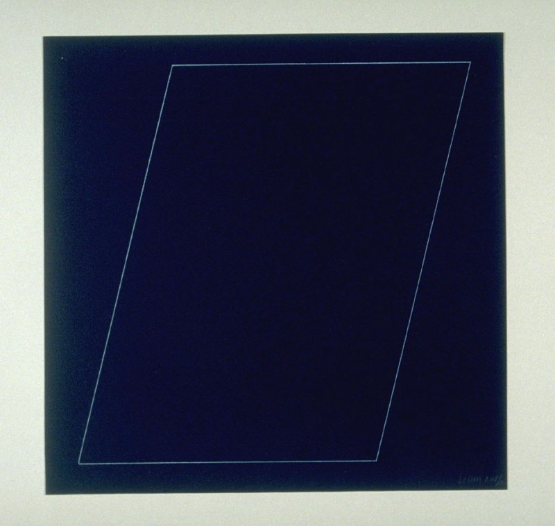 Untitled, pl. 6 from the portfolio Six geometric figures (circle, square, triangle, rectangle, trapezoid and parallelogram) (New York: Parasol Press Ltd., 1977)