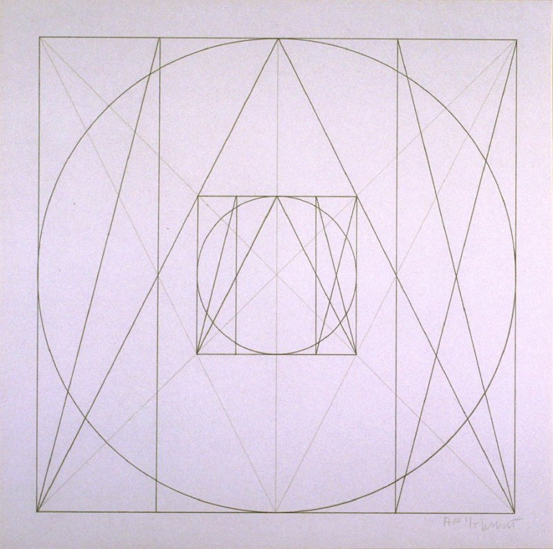 Untitled, pl. 37, from the portfolio, Geometric Figures within Geometric Figures