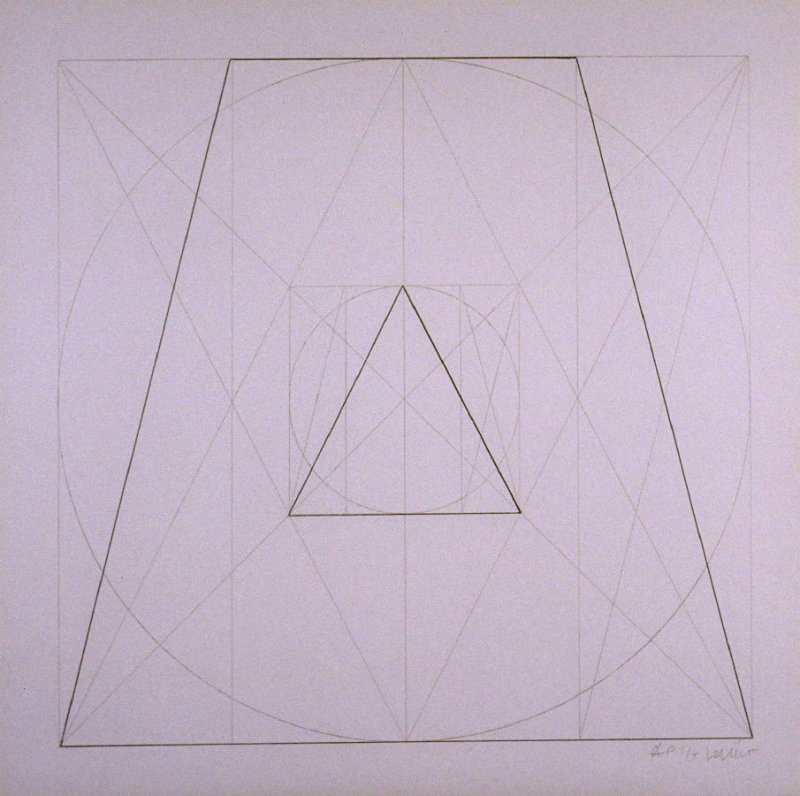 Untitled, pl. 27, from the portfolio, Geometric Figures within Geometric Figures