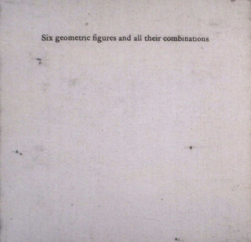 Six geometric figures and all their combinations using black lines in two directions (New York: Parasol Press Ltd. :1980), vol. 1 (of 2) (black)