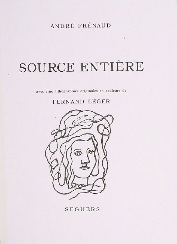 Untitled, title page, in the book Source entière (Whole Source) by André Frénaud (Paris: Seghers, 1952)