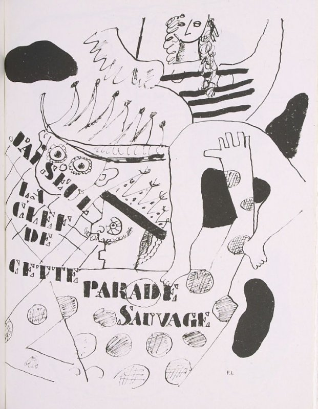 """""""Parade,"""" suite 1, bound at the back of the book Les Illuminations by Arthur Rimbaud (Lausanne: Grosclaude, Éditions des Gaules, 1949)."""