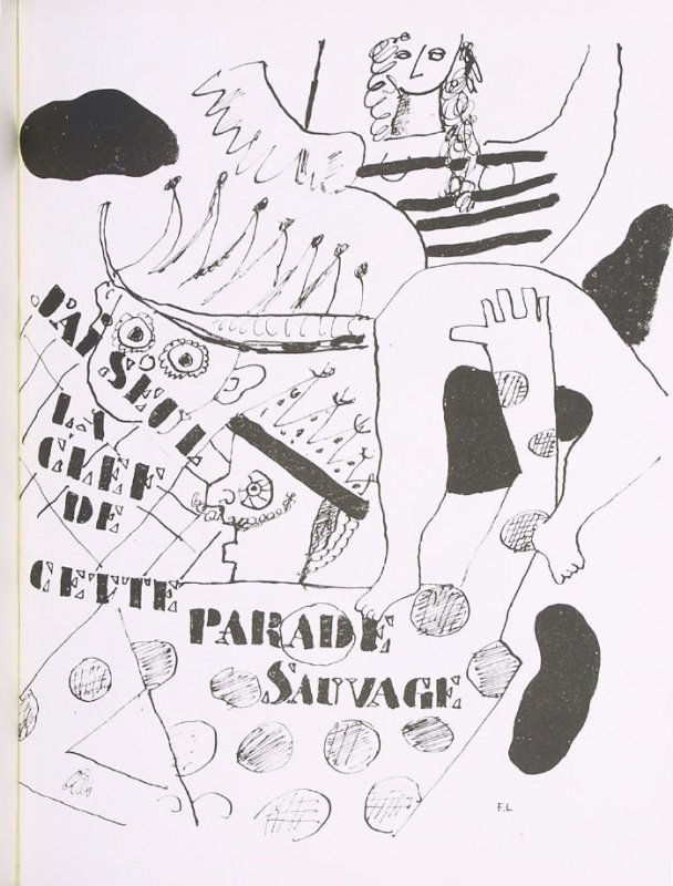 """Parade,"" suite 2, bound at the back of the book Les Illuminations by Arthur Rimbaud (Lausanne: Grosclaude, Éditions des Gaules, 1949)."