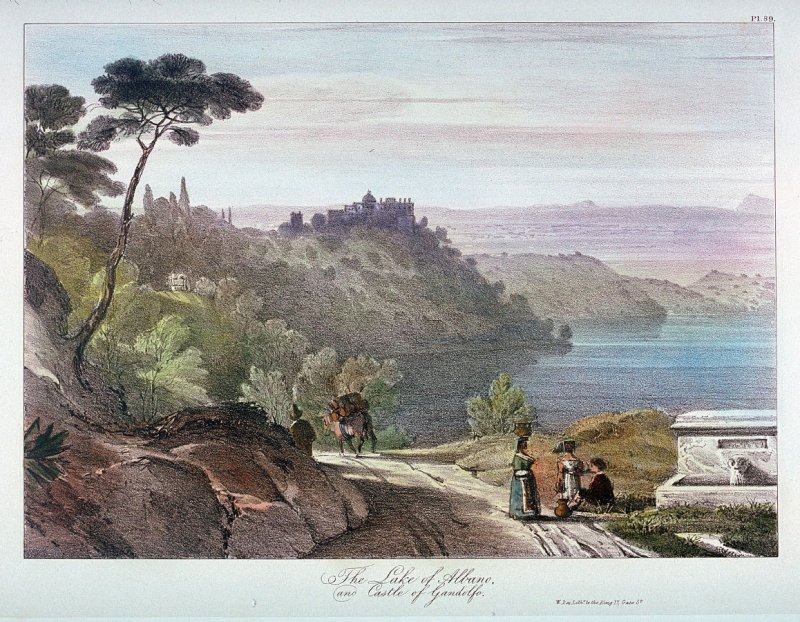 The Lake of Albano and Castle of Gandolfo