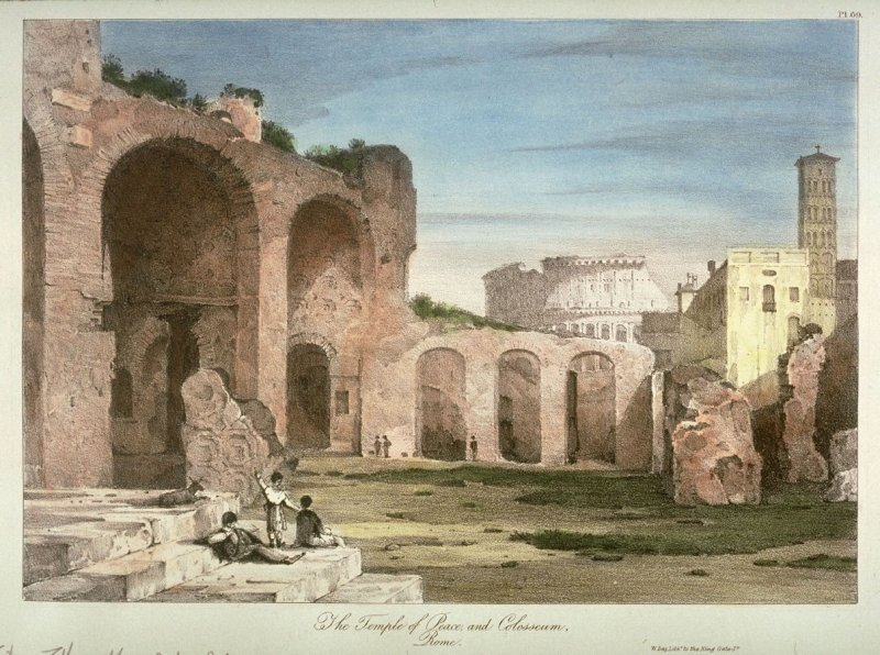 The Temple of Peace, and Colosseum, Rome