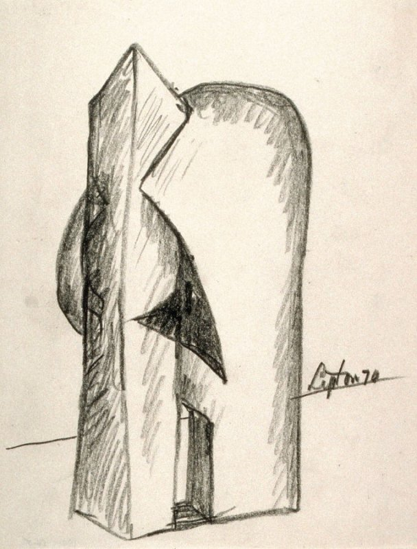 Untitled [Study for Sculpture]