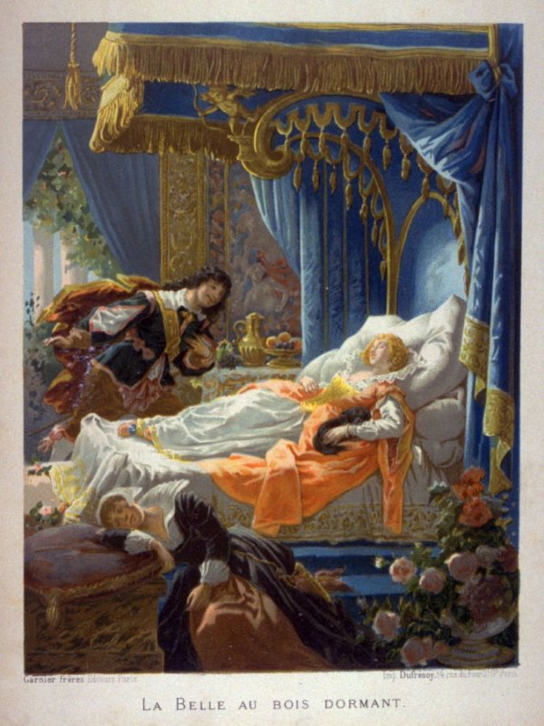 One of Four Illustrations to Fairy Tales by Charles Perrault