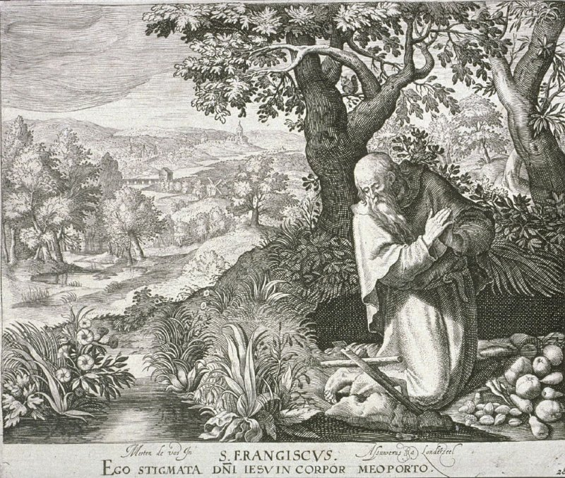 Saint Francis, from Trophaeum Vitae Solitariae (Lives of the Hermits)