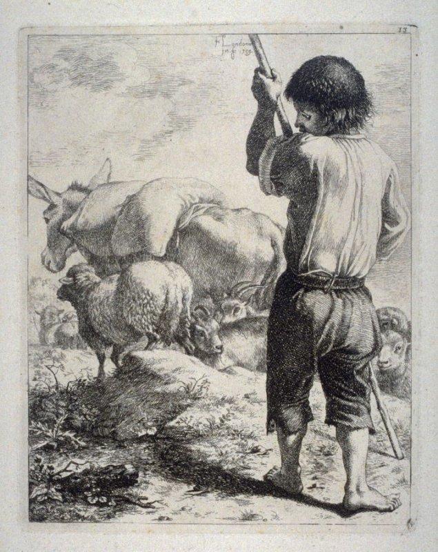 Plate 13 from a set of etchings of Animals and Peasants