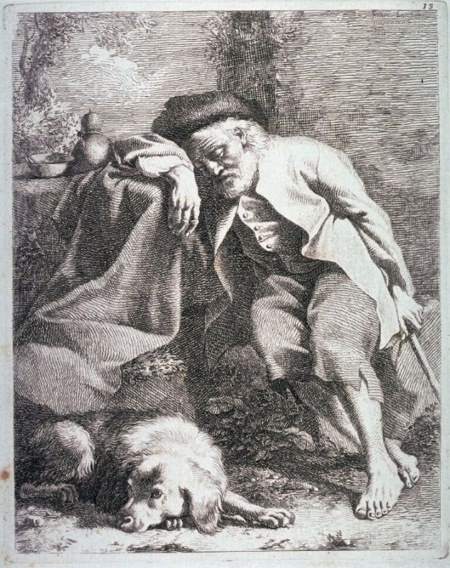 Plate 15 from a set of etchings of Animals and Peasants