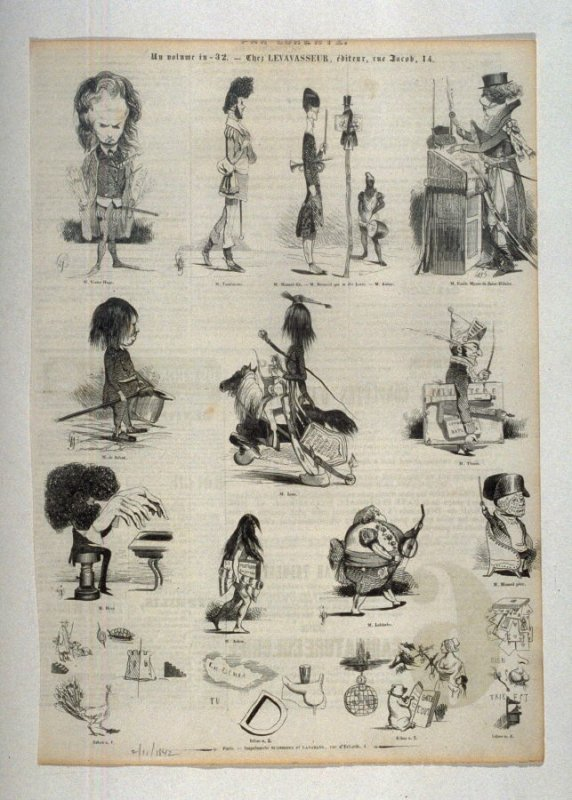 [caricatures and rebusses]