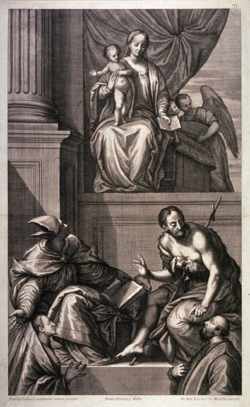 The Virgin and Child with St. John the Baptist, a Bishop Saint and Two Donors, after Veronese