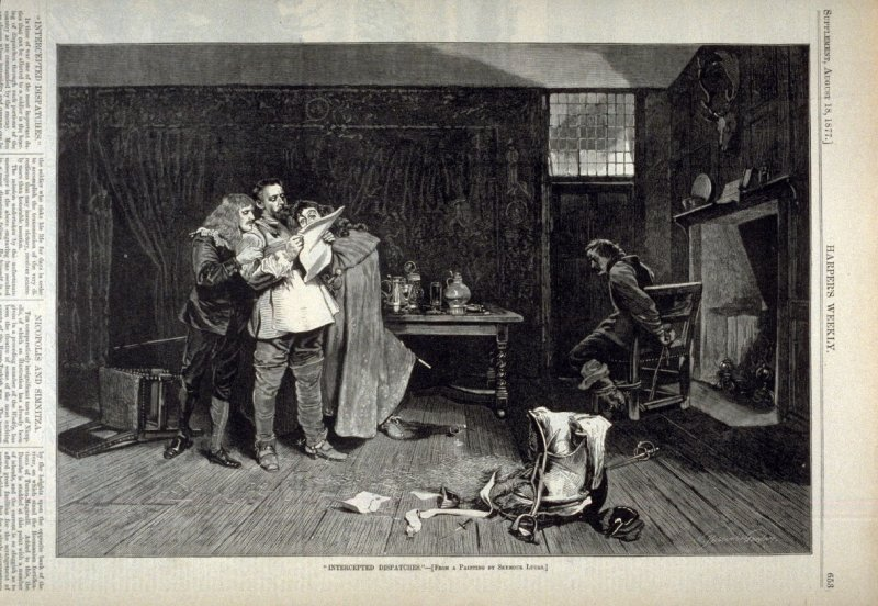 Intercepted Dispatches - from Harper's Weekly,  (August 18, 1877), p. 653