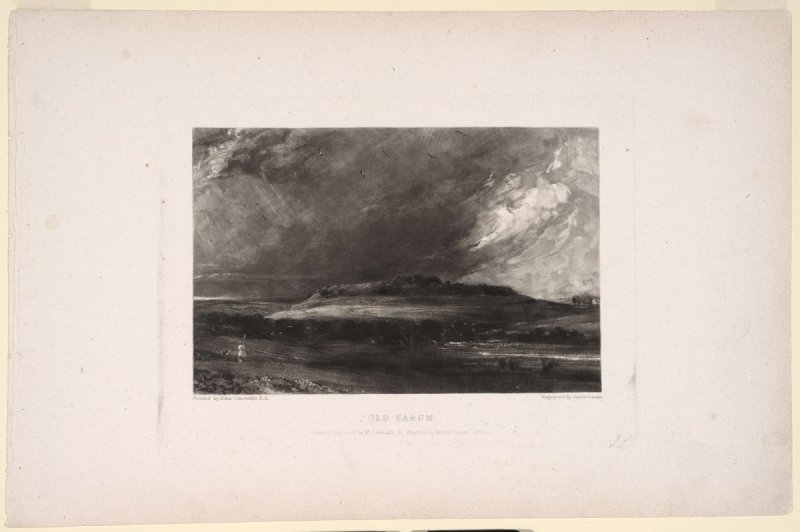 Plate 14: Old Sarum, from the album 'Various Subjects of Landscape, Characteristic of English Scenery' (London: John Constable, 1830-[1832])