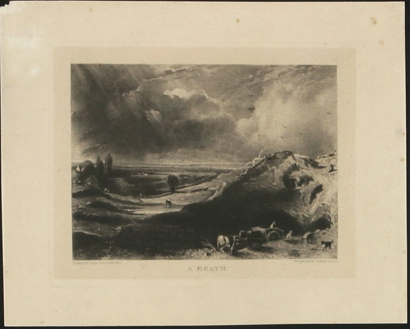 Plate 8: A Heath, from the series 'English Landscape Scenery' (London, Constable, 1830-2)
