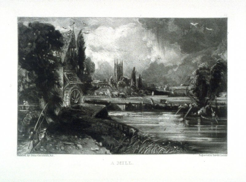 A Mill, from the album 'Various Subjects of Landscape, Characteristic of English Scenery' (London: John Constable, 1830-[1832])