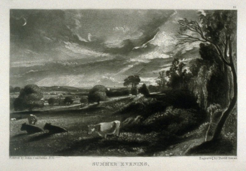Summer Evening, from the series 'Various Subjects of Landscape, Characteristic of English Scenery' (London: John Constable, 1830-[1832])