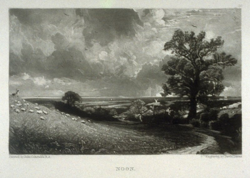 Noon, from the album 'Various Subjects of Landscape, Characteristic of English Scenery' (London: John Constable, 1830-[1832])