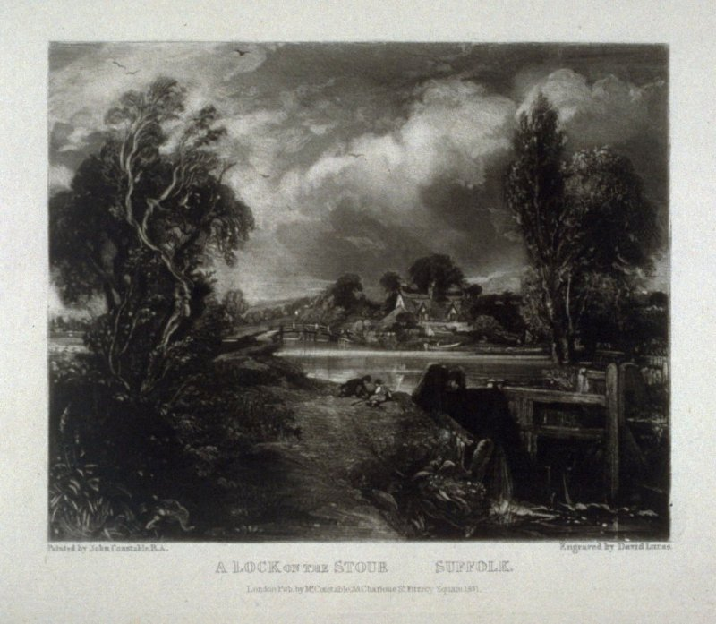 Plate 13: A Lock on the Stour, Suffolk, from the album 'Various Subjects of Landscape, Characteristic of English Scenery' (London: John Constable, 1830-[1832])