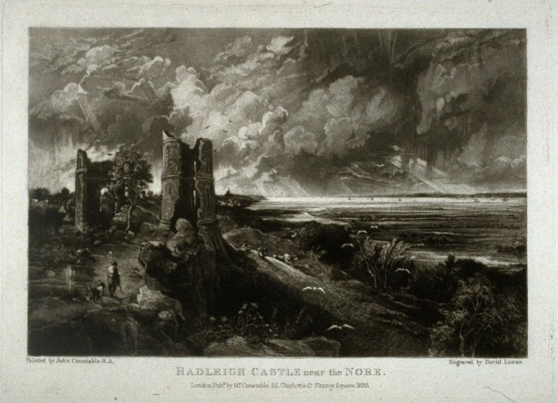 Plate 21: Hadleigh Castle near the Nore, from the album 'Various Subjects of Landscape, Characteristic of English Scenery' (London: John Constable, 1830-[1832])
