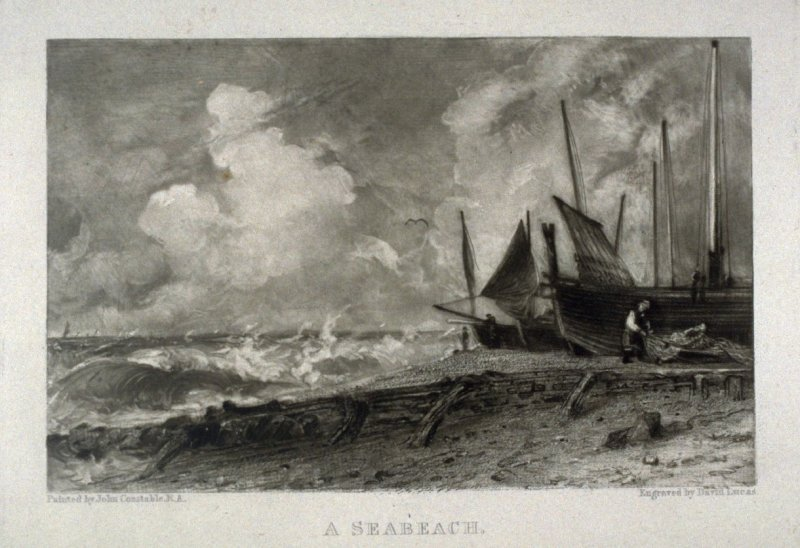 Plate 11: A Seabeach, from the album 'Various Subjects of Landscape, Characteristic of English Scenery' (London: John Constable, 1830-[1832])